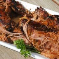 Balsamic Glazed Pork Tenderloins with Cherry Tomato Salad