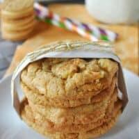 Lemon Crunch Cookies {Heirloom Cookie sheets giveaway}