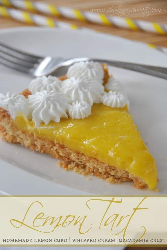 Lemon Tart with Macadamia Crust from @shugarysweets