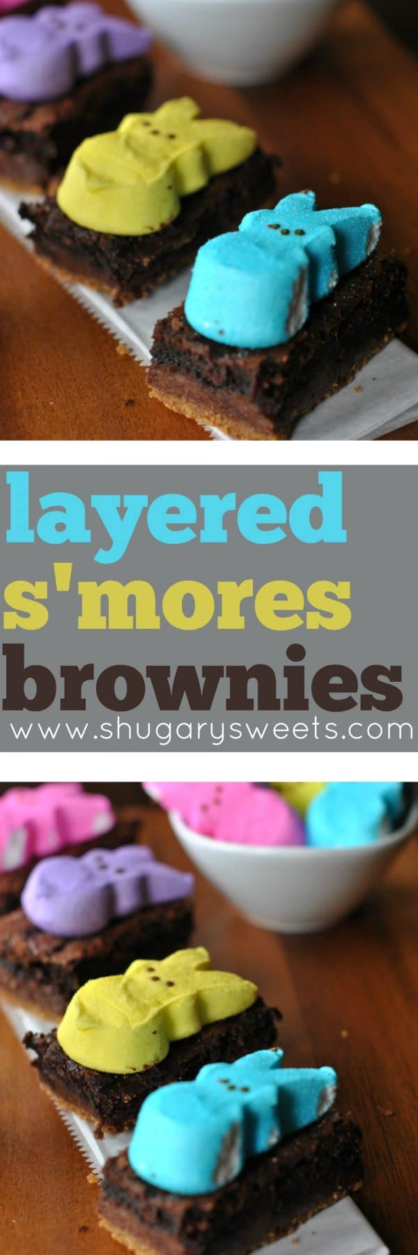 Easter is only a week and half away! Are you ready?? Well these cute Layered S'mores Brownies with PEEPS might help get you ready! Plus there is a PEEPS prize to win today too!
