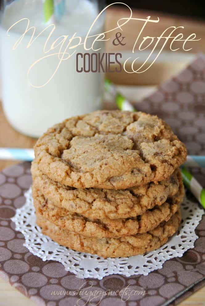 Maple Toffee Cookies: delicious, soft maple cookies with # ...