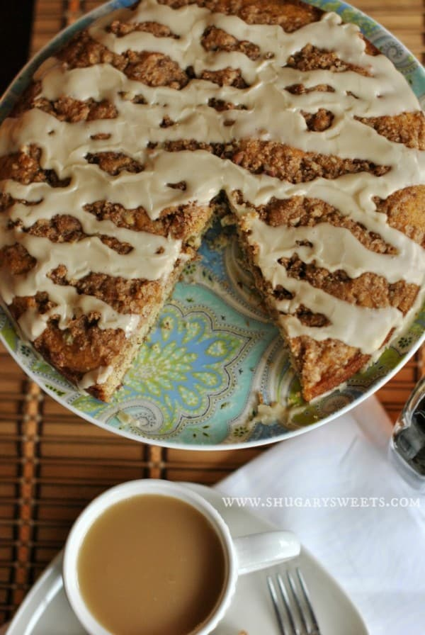 Banana Streusel Coffee Cake: the perfect breakfast for your family and friends, easy to make too!