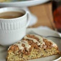 Classic Banana Streusel Coffee Cake with Maple Glaze