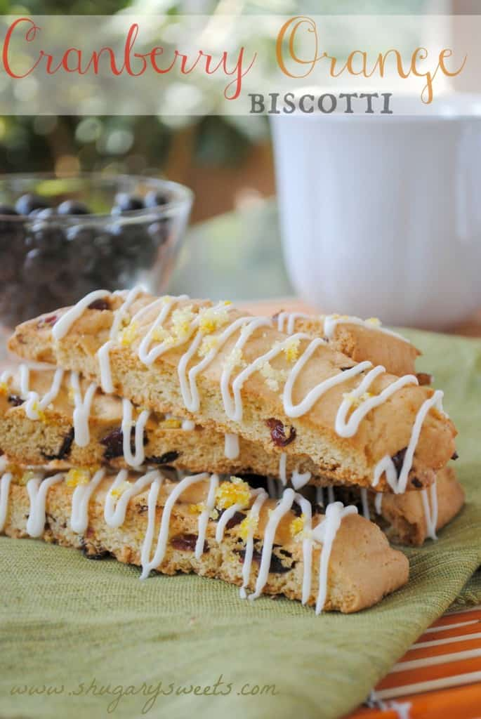 Cranberry Orange Biscotti from @shugarysweets