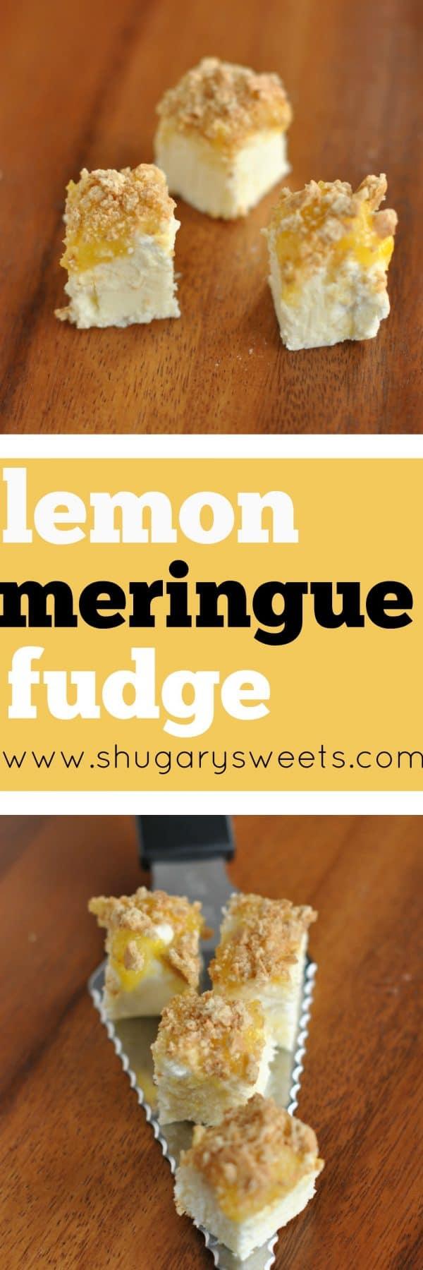 Easy, Delicious Lemon Meringue Pie Fudge Recipe