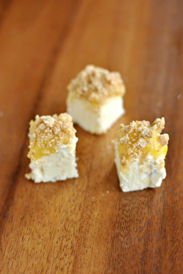 "If you love Lemon Meringue pie, this Lemon Meringue Fudge is even better. Sweet fudge topped with marshmallow ""meringue"", lemon curd, and graham crackers!"