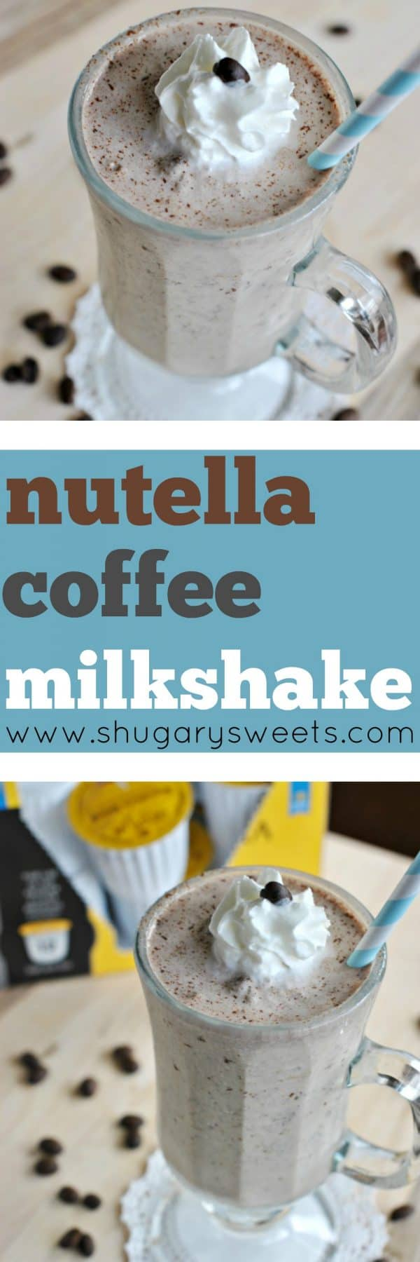 Looking for a mid-afternoon treat? How about whipping up a Nutella Coffee Milkshake? It's refreshing and delicious!