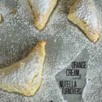 Orange Cream and Nutella Turnovers