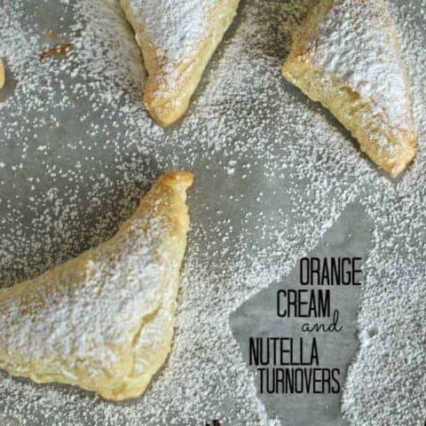 Orange Cream and Nutella Turnovers