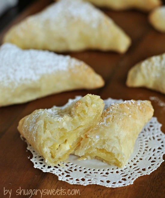 Orange Cream and Nutella Turnovers: a quick and tasty breakfast idea using Pepperidge Farm Puff Pastry from shugarysweets.com