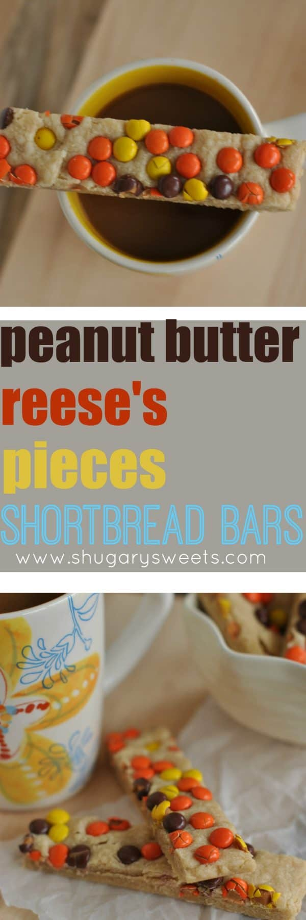 One day it's a lemon dessert I crave and the next day I am drooling over these peanut butter shortbread bars.