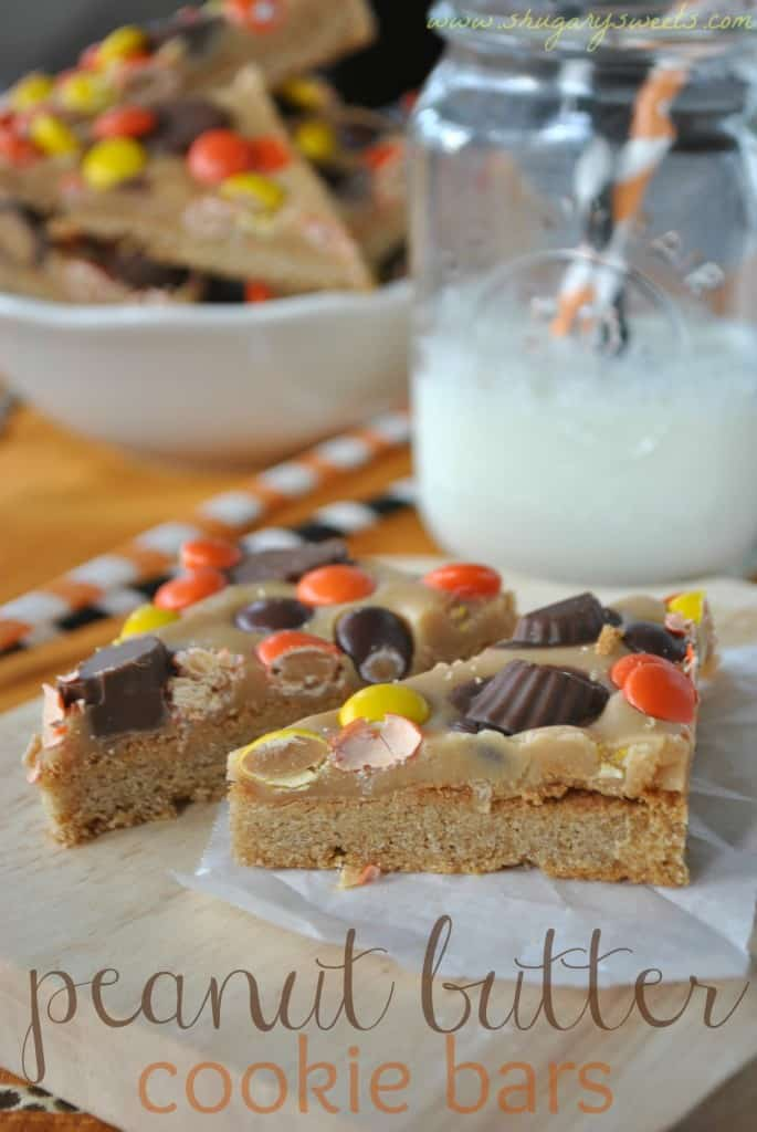 Reese's Peanut Butter Bars from @shugarysweets