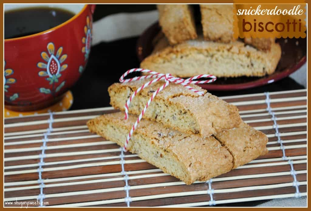 Snickerdoodle Biscotti from @shugarysweets