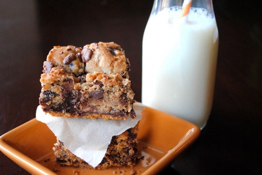 Toffee chocolate chip cookie bars