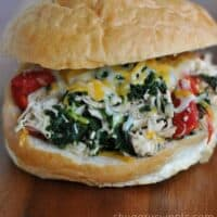 Slow Cooker Italian Chicken Sandwiches