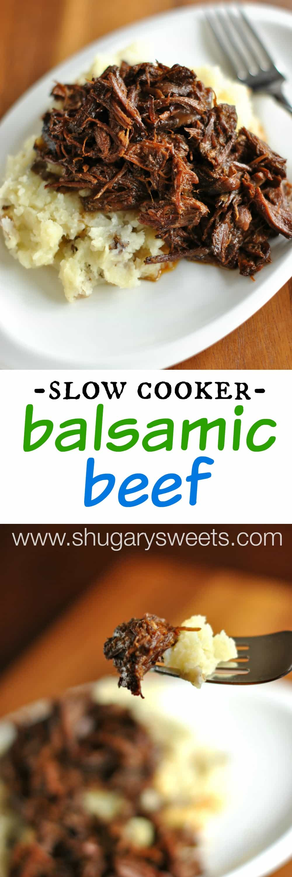 Slow Cooker Beef Pot Roast: Slow Cooker Balsamic Shredded Beef