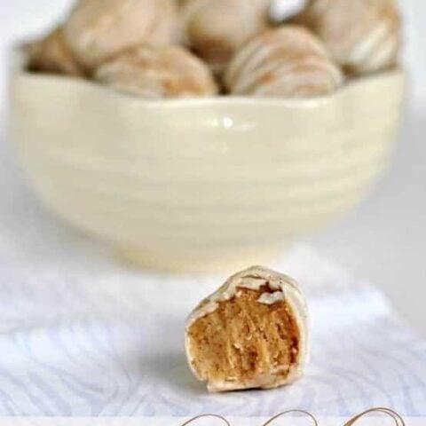 Snickerdoodle Cookie Dough Truffles