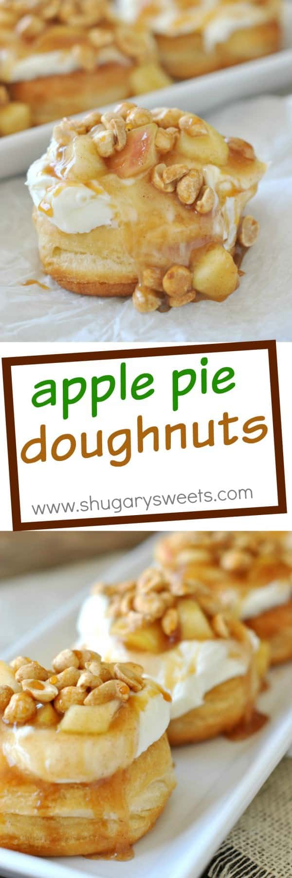 Apple Pie Doughnuts Shugary Sweets