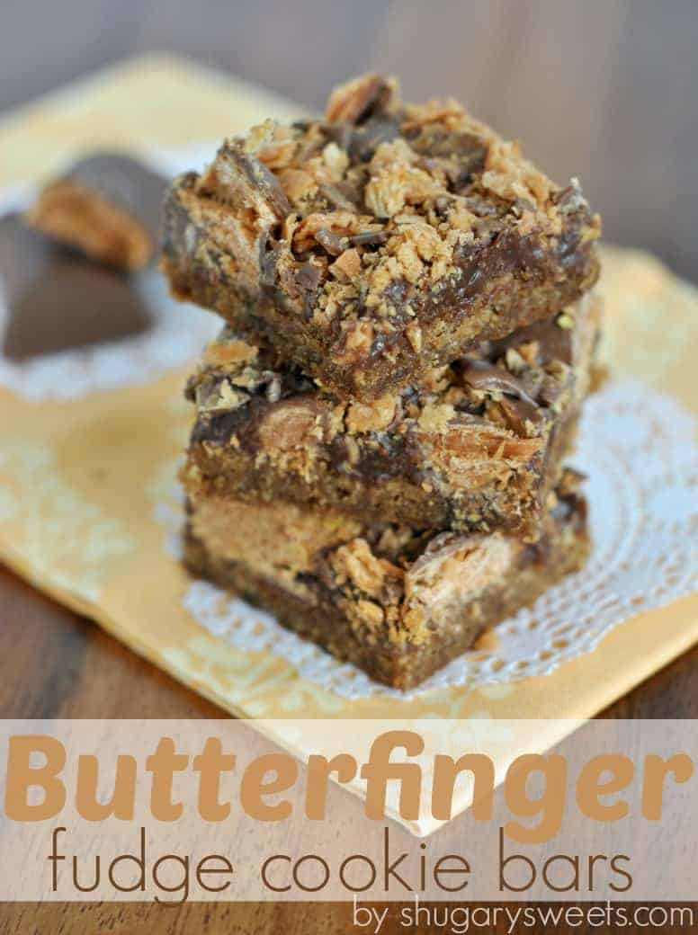 Fudge Cookie Bars: peanut butter cookie base topped with chocolate ...