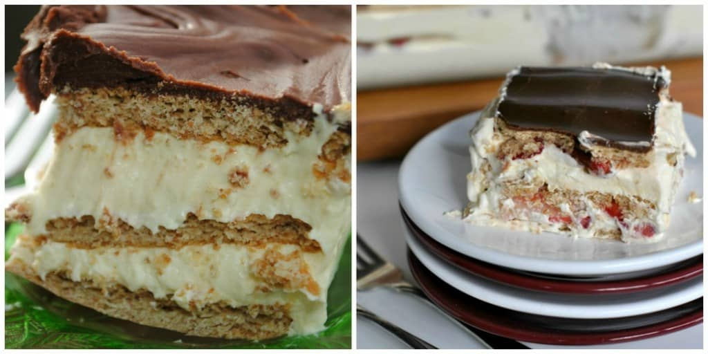 Chocolate Eclair Cake | Strawberry Eclair Cake