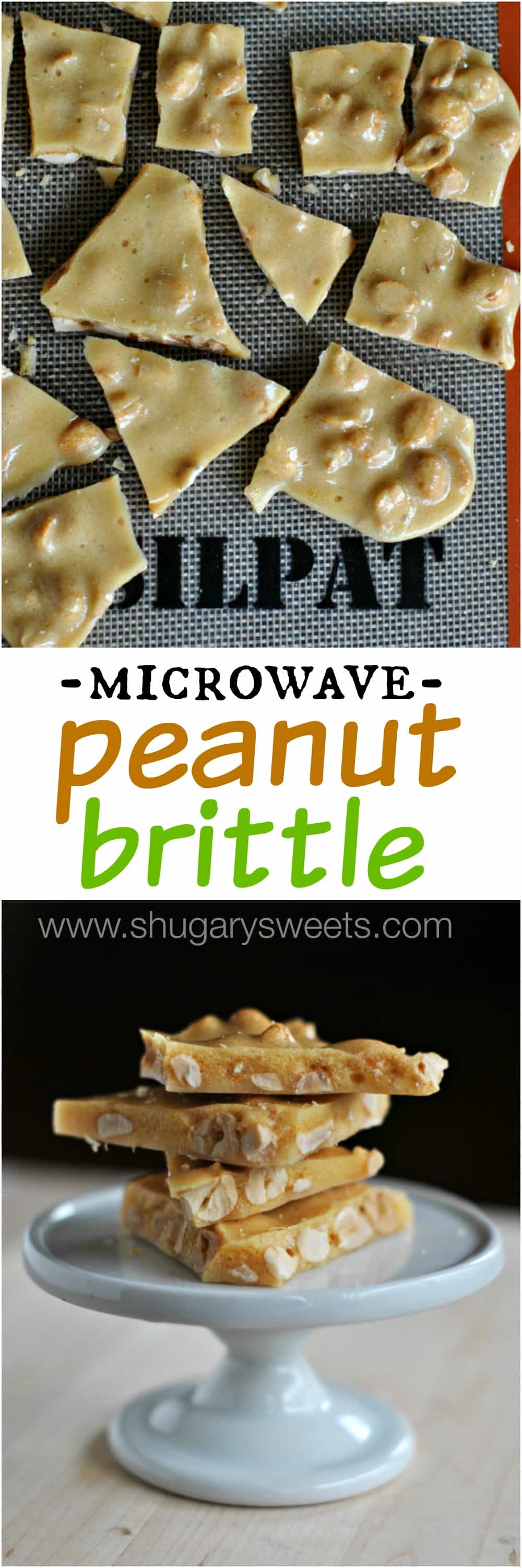 Shugary Sweets: Microwave Peanut Brittle