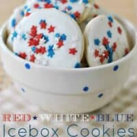 Red, White, Blue Icebox Cookies