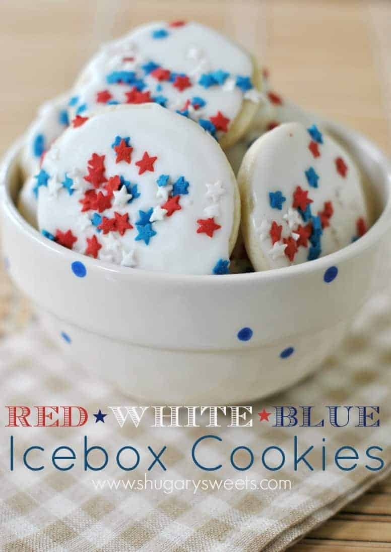 Red White And Blue Icebox Cookies Shugary Sweets