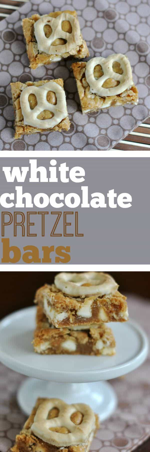 Not sure if you're in the mood for sweet or salty? I've got you covered with these White Chocolate Pretzel Bars!