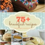 75+ breakfast recipe ideas from donuts to muffins, eggs, pancakes and waffles. You