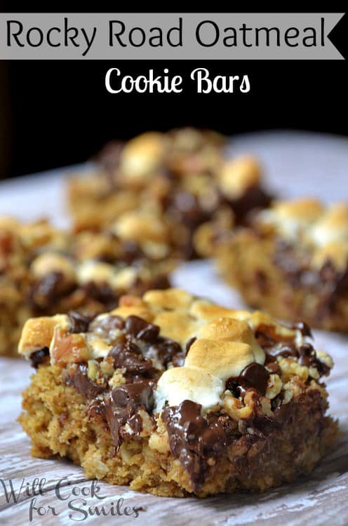 Rocky-Road-Oatmeal-Cookie-Bars-1-willcookforsmiles.com_