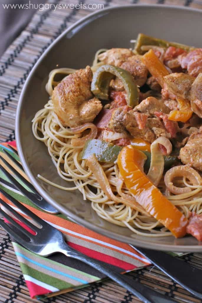 Cajun Chicken Pasta: delicious cajun chicken dinner ready in 30 minutes!