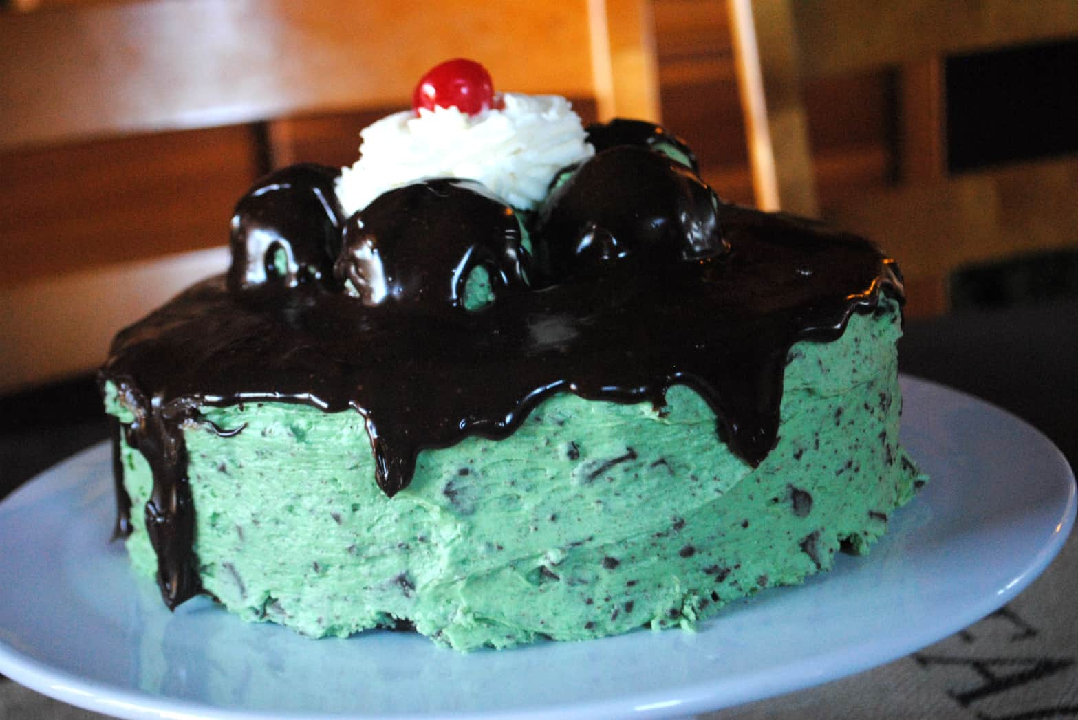 Dark Chocolate Cake with Vanilla Frosting - Shugary Sweets