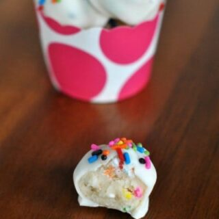 Funfetti Cookie Dough Truffles