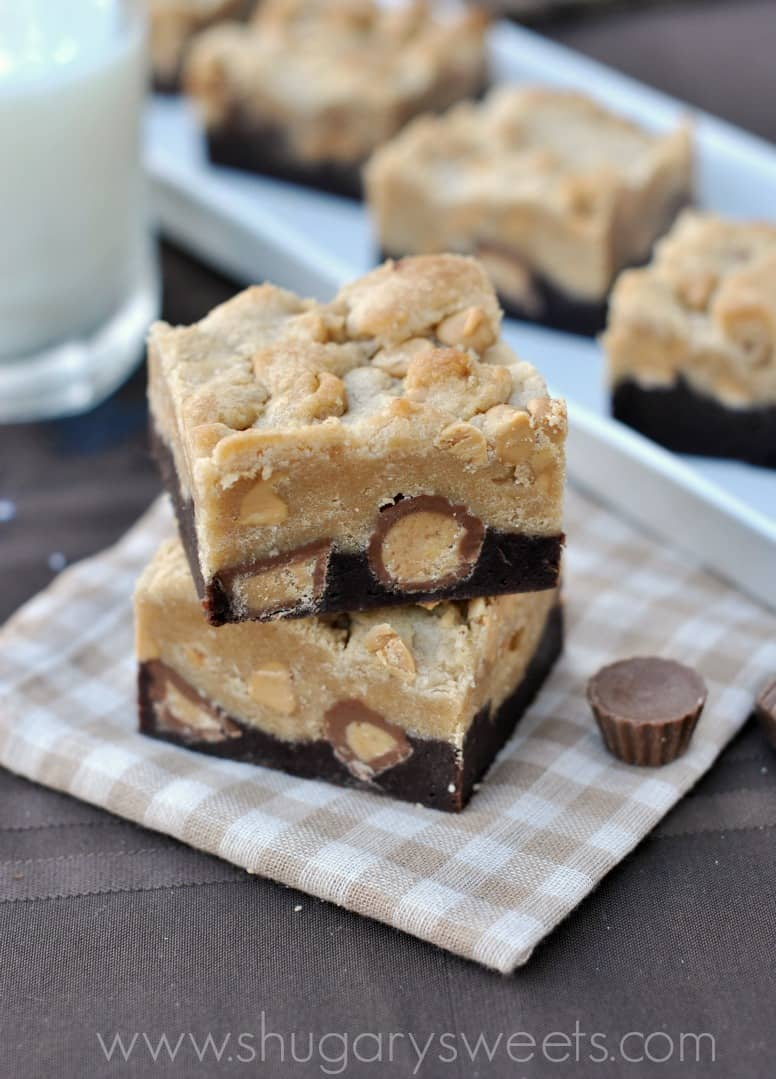 Chocolate Chip Brownies With Peanut Butter Cups