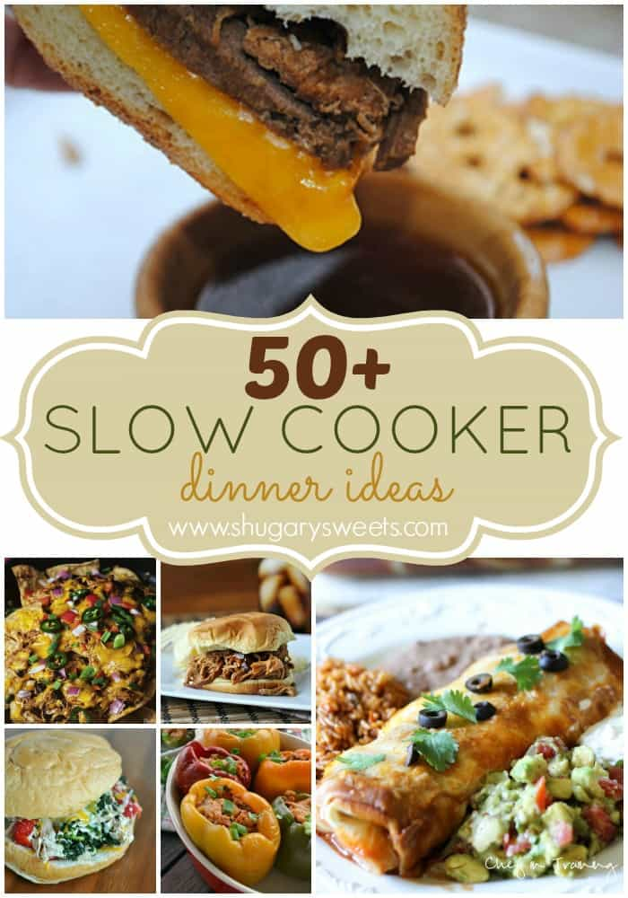 50+ Slow Cooker Dinner Ideas: a great collection of recipes in one place!