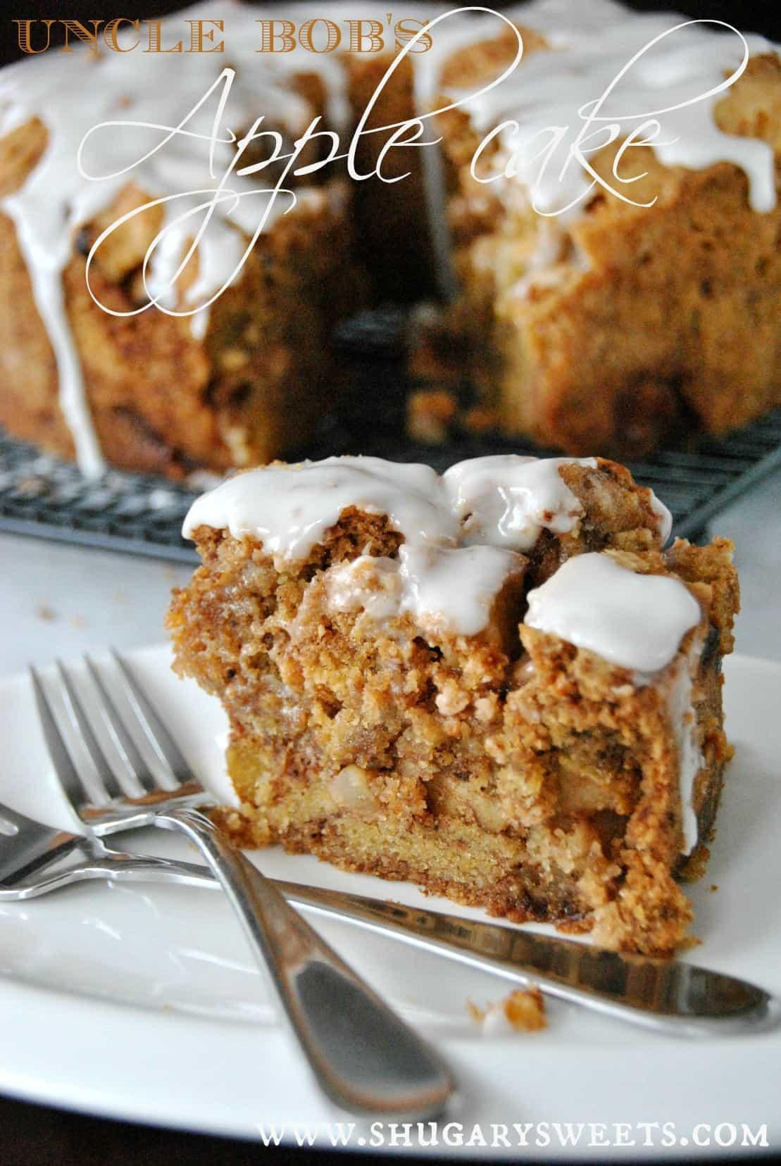 Apple Bundt Cake With Honey Glaze
