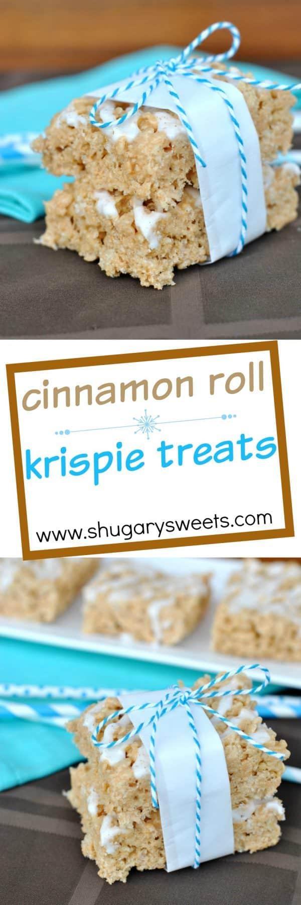 Take your Rice Krispie Treats up a notch by adding Cinnamon Roll flavor! You can't keep your hands off these.