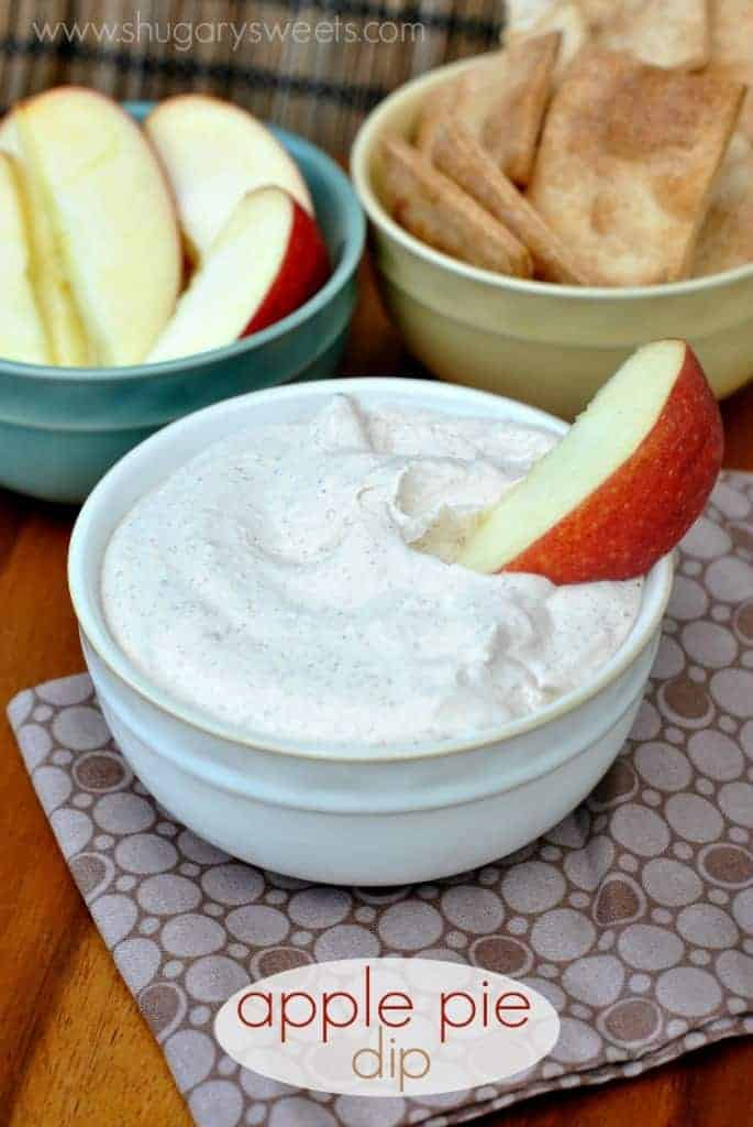 Creamy, fluffy Apple Pie Dip made with greek yogurt and apple butter. Don