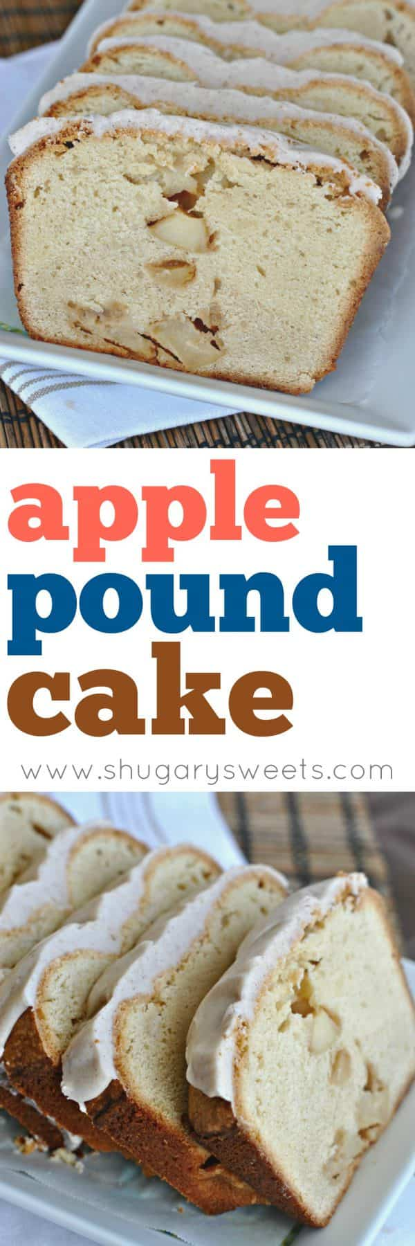 Rich, buttery, cream cheesePound Cake filled with chunks of Apples. Take it to the next level with a Cinnamon glaze!