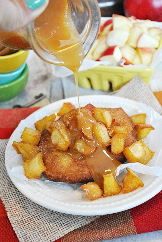caramel apple fritters