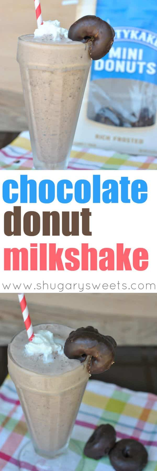 I've partnered with Tastykake to bring you a delicious Chocolate Donut Milkshake recipe. Perfect for the whole family, or a special treat for game day!