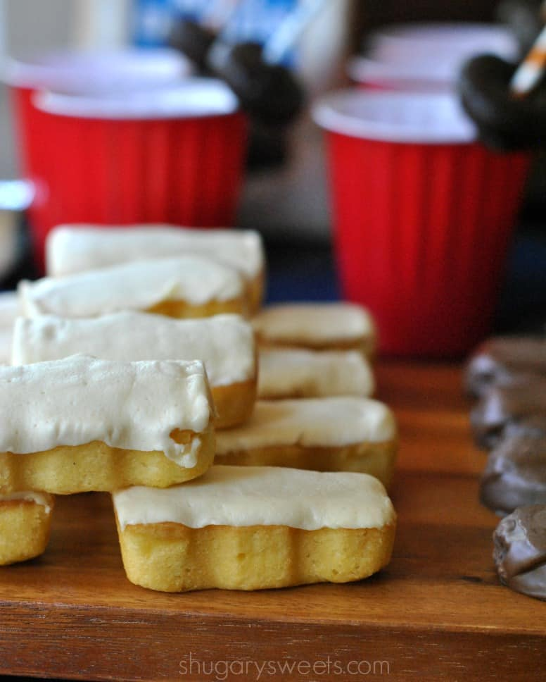 Chocolate Donut Milkshakes made with hot fudge, chocolate ice cream, and YES, chocolate mini donuts! #tastykake