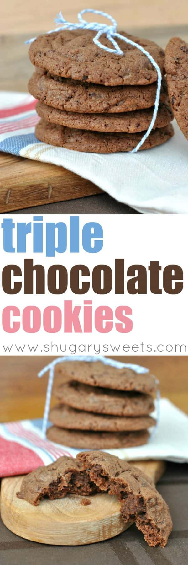 Chewy Chocolate Cookies filled with Chocolate Chips and Cocoa Nibs. The ultimate chocolate experience!