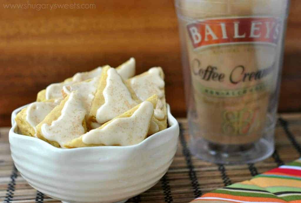 BAILEYS Pumpkin Spice Shortbread Cookie Bars: buttery shortbread made using pumpkin spice creamer!