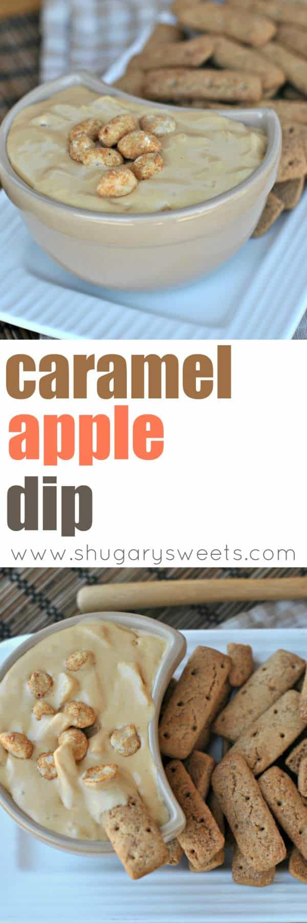 Grab your crackers, apples or spoons! This creamy Caramel Apple Dip is outrageously delicious!