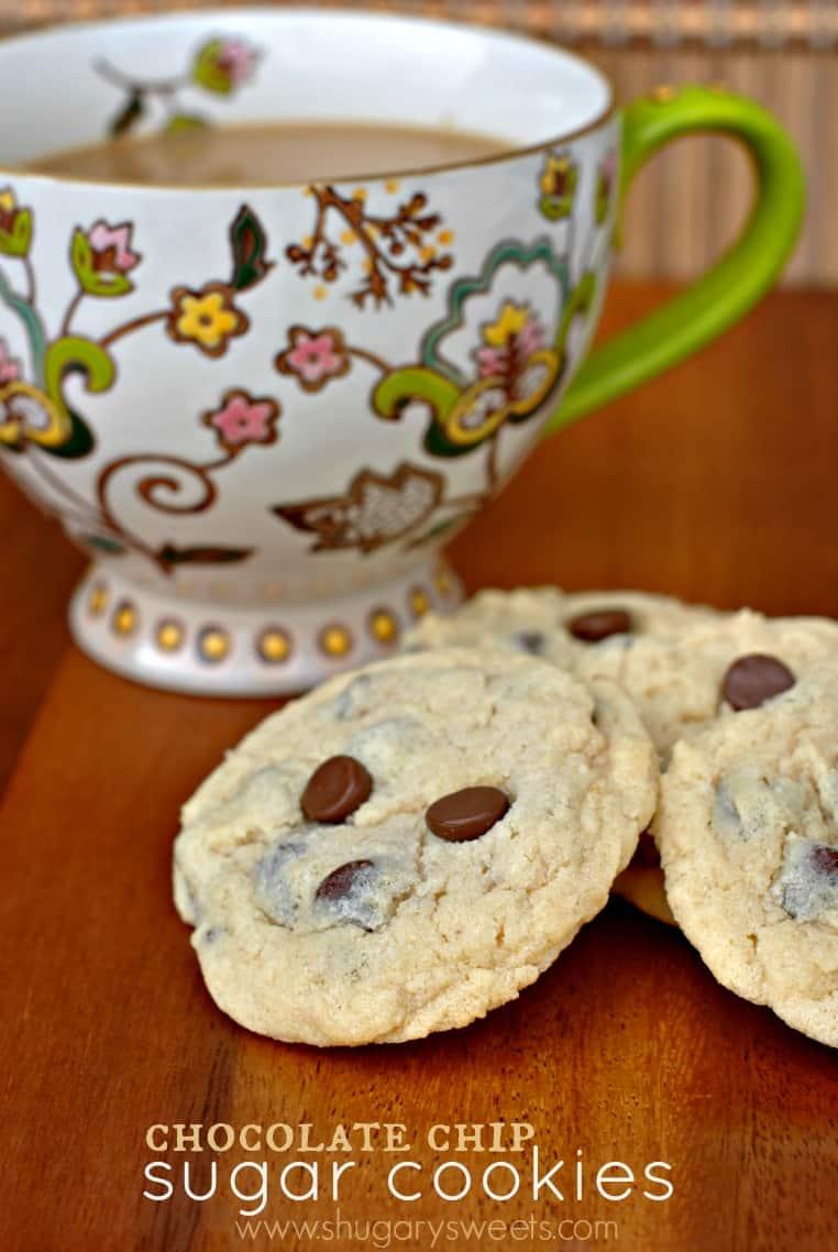 Chocolate Chip Sugar Cookies - Shugary Sweets