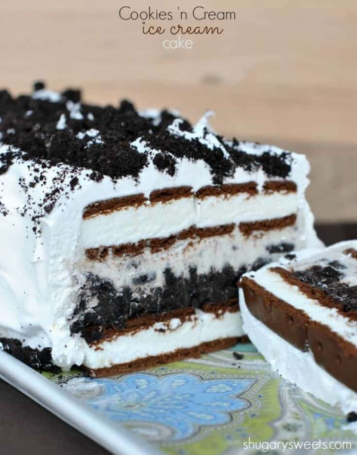 Easy no-bake Oreo Ice Cream Cake is a fantastic treat no matter the time of year. Everyone will go ga-ga over it!