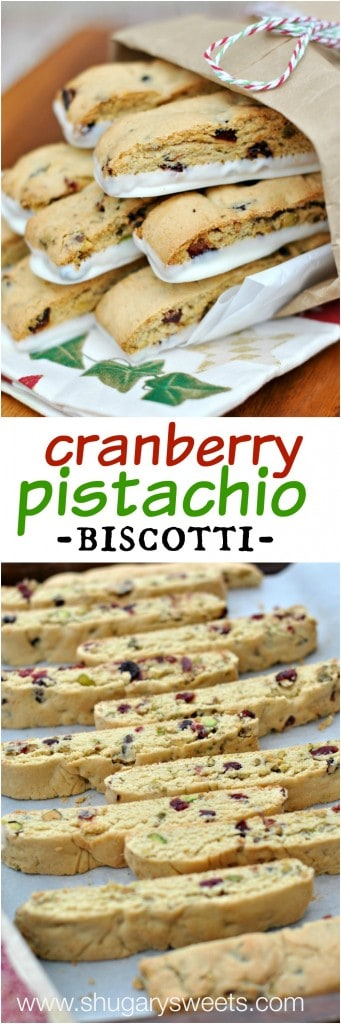 Cranberry Pistachio Biscotti recipe is easy to make and perfect for ...