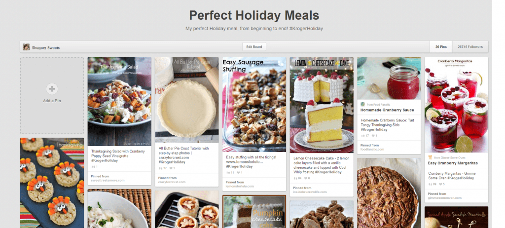 My Perfect Holiday Meals