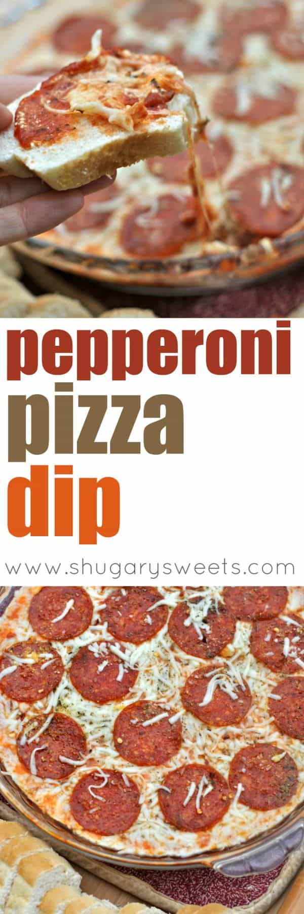Easy Pepperoni Pizza Dip for game day snacking!